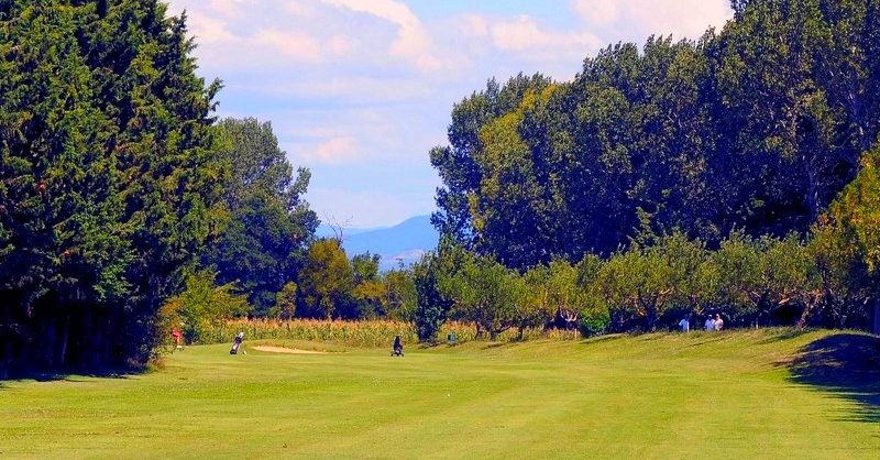 9-hole golf course, Rhone Valley France